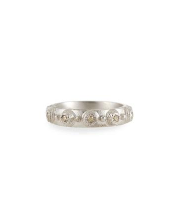 Champagne Diamond Stacking Ring,