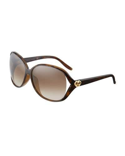 Plastic Butterfly Sunglasses, Brown