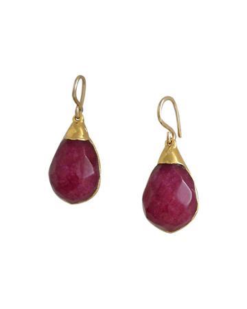 Ruby Quartz Drop Earrings