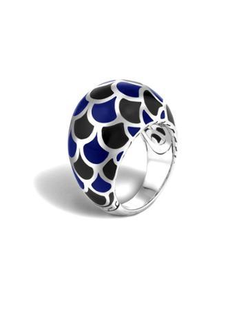 Naga Silver Enamel Dome Ring,