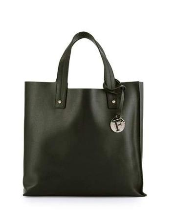 Musa Medium Leather Tote Bag, Onyx