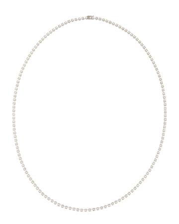 Neiman Marcus 14k White Gold Diamond Tennis Necklace, 7.0 Tcw, Women's