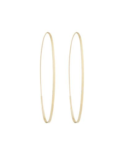 14k Magic Oval Flat Hoop Earrings