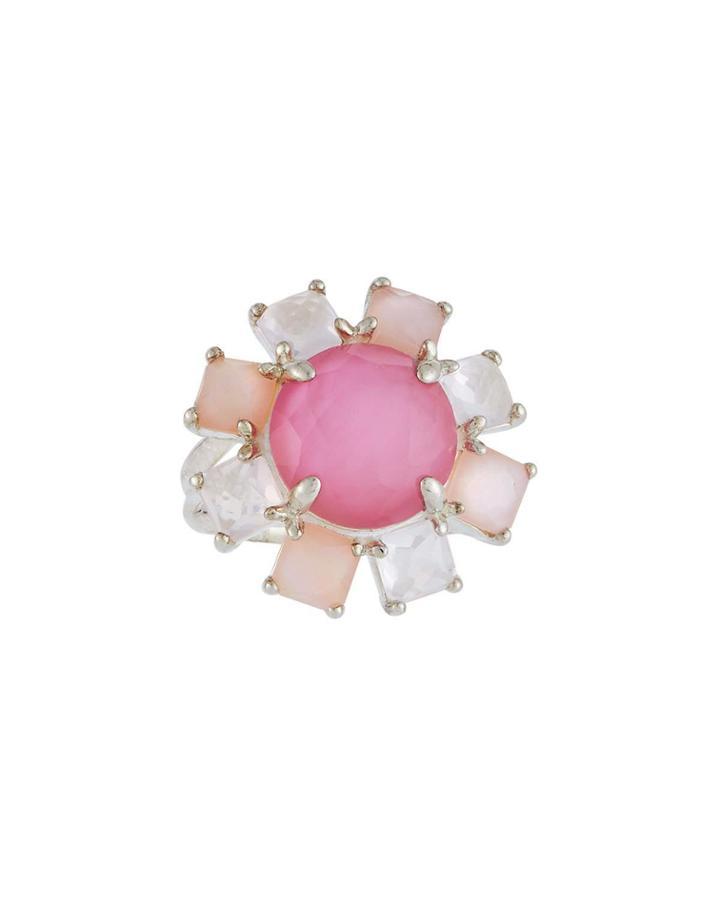 Wonderland Stone Flower Ring, Cashmere