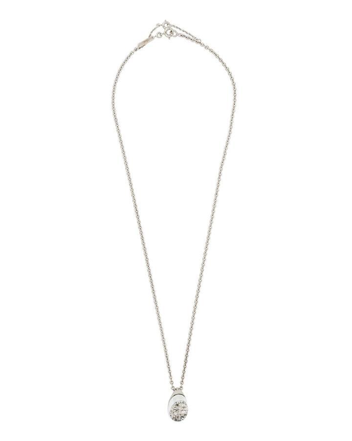 18k White Gold Mist Diamond Pendant Necklace