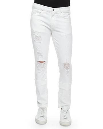 Tyler Deconstructed Slim Jeans, White
