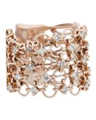 18k Rose Gold Diamond Circle-link Ring,