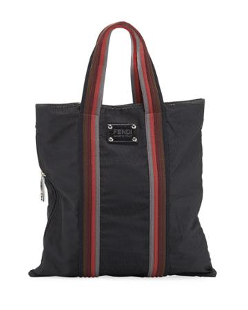 Ff Logo-embossed Nylon Tote Bag