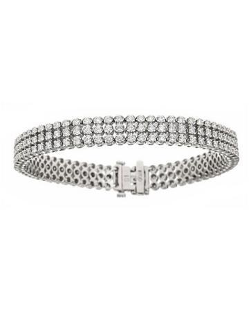 Neiman Marcus Diamonds Three-row Diamond Bracelet, 5.0tcw, Women's, White