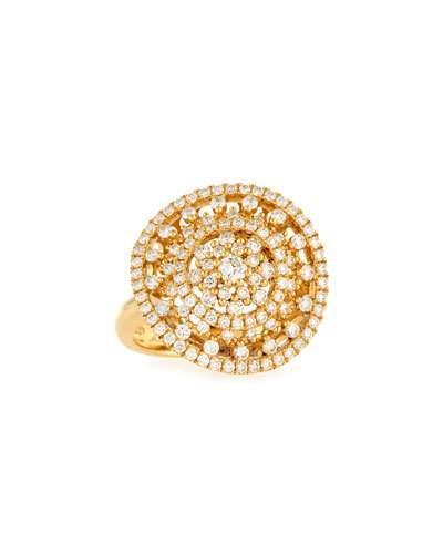18k Deluxe Diamond Glitter Cocktail Ring