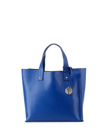 Musa Medium Leather Tote Bag, Blue