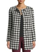 Snap-front Houndstooth Jacket