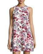 Floral-print Shift Dress,