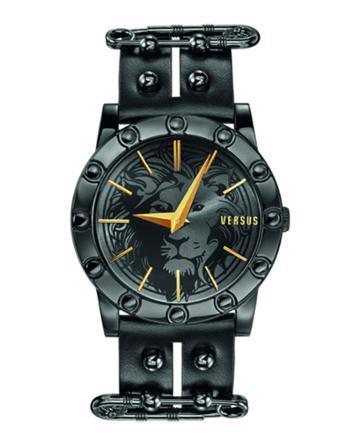 Miami 40mm Studded Watch W/ Split Leather