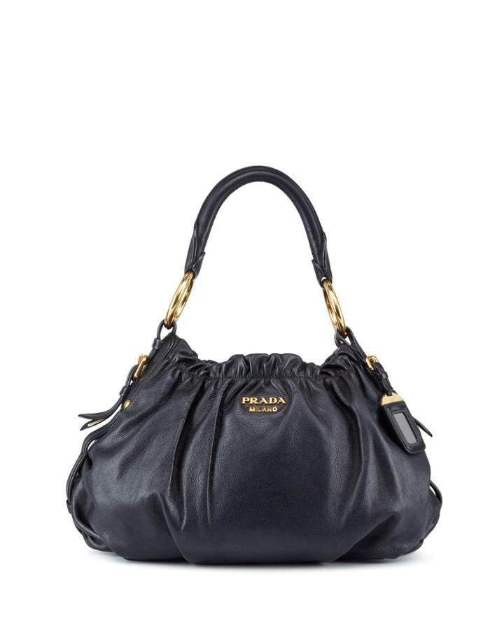 Preowned Leather Hobo Bag