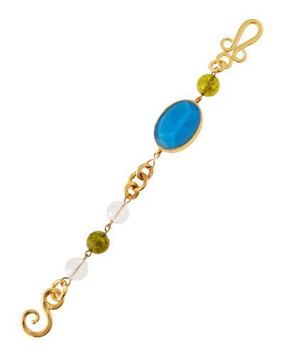 Empress Crystal, Peridot & Quartz Bracelet,