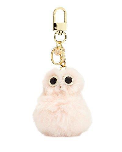 Chicky Pom Handbag Charm, Ivory