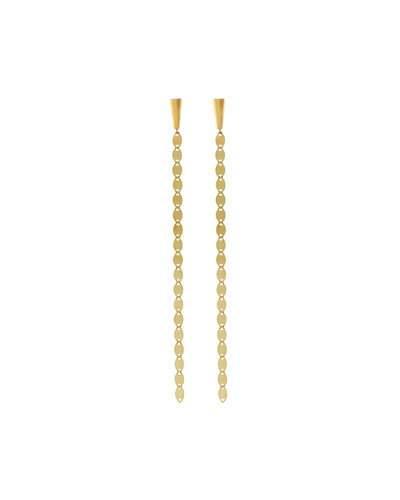 14k Linear Nude Flat-link Drop Earrings
