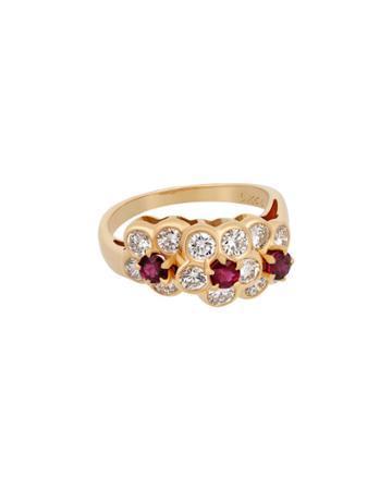 18k Diamond & Ruby Ring,
