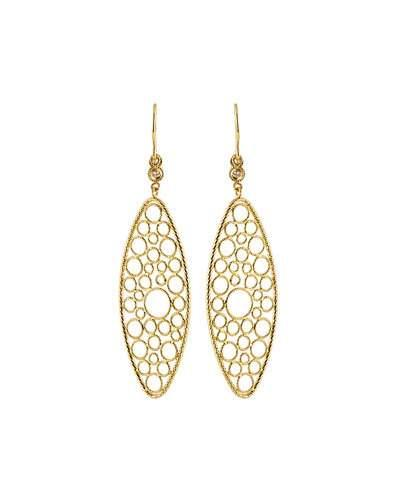 Bollicine 18k Yellow Gold Drop Earrings With Diamonds,