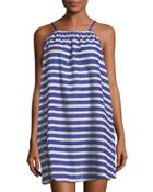 Striped Halter Coverup Dress