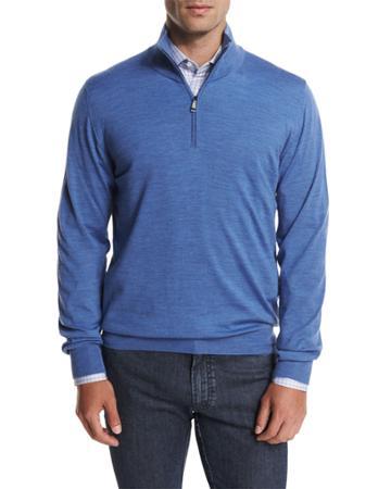 Wool Half-zip Sweater,