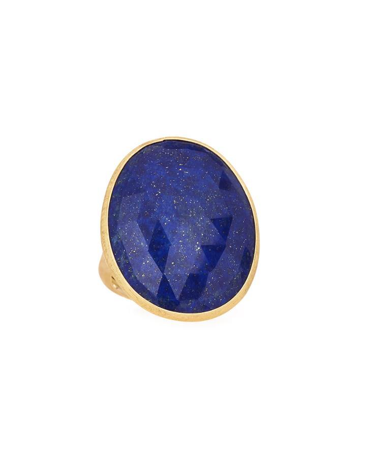 18k Large Lapis Ring,