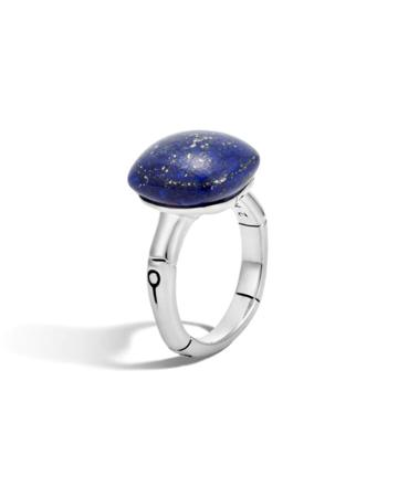 Bamboo Silver Orb Ring With