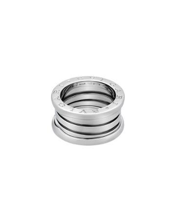 Estate B.zero1 18k White Gold 4-band Ring,