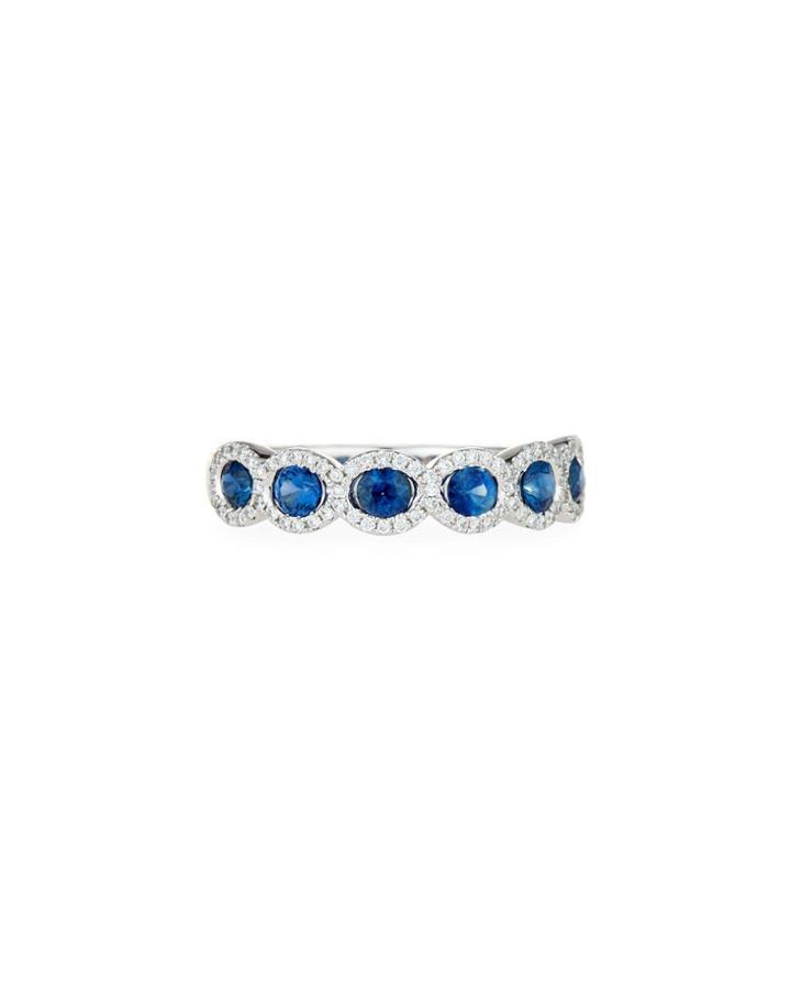 18k Sapphire & Diamond Fashion Ring,