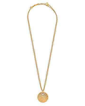 18k Rose Gold Diamond Pendant Necklace