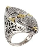 Asteri Marquise Ring W/ Pave White Diamonds,