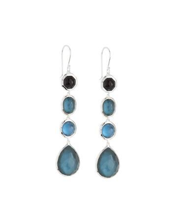 Rock Candy Four-stone Drop Earrings, Dusk