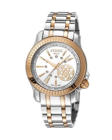 36mm Bracelet Watch W/ Logo Bezel, Two-tone