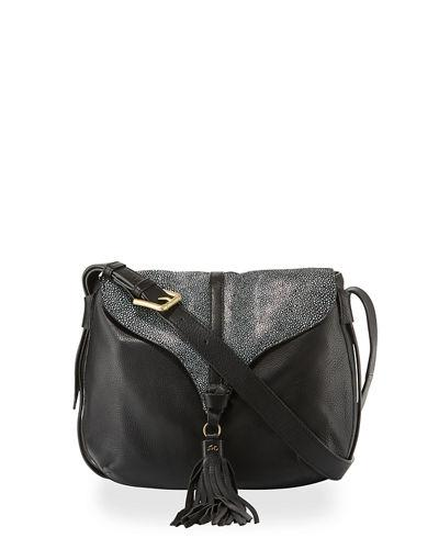 Arrow Large Leather Crossbody Bag