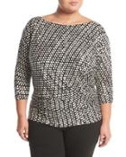 Marcie Ruched Wrap Top,