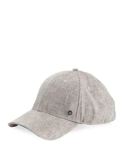 Chambray Cotton Baseball Cap