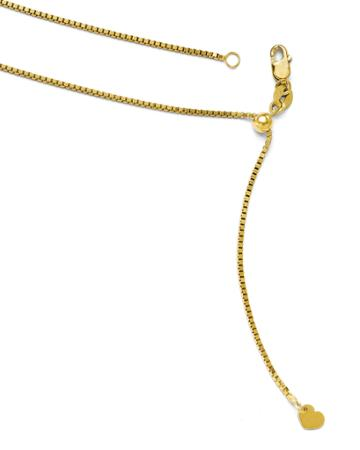 14k Yellow Gold Adjustable Box Chain Necklace