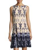 Sleeveless Keyhole Printed Dress