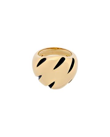 Estate 18k Yellow Gold Claw Ring,