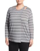 Hatichi Striped Long-sleeve Top,