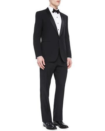 Basic Shawl-collar Tuxedo, Black