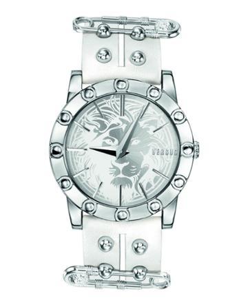 Miami 40mm Studded Watch W/ Split Leather Strap,