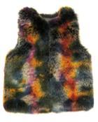 Mottled Faux-fur Vest