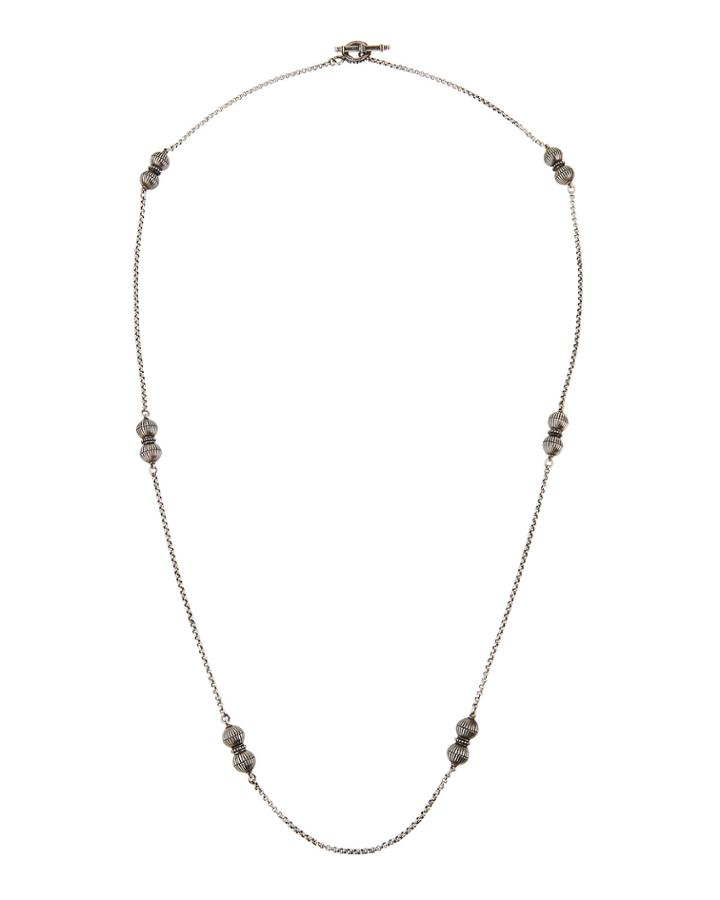 Long 2-ball Necklace,