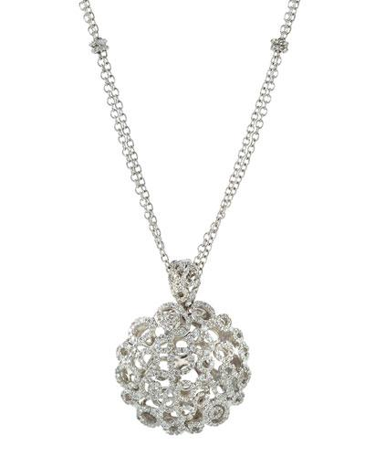 Mauresque 18k White Gold Diamond Pendant Necklace