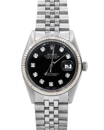 Pre-owned 36mm Diamond Datejust Bracelet Watch, Black