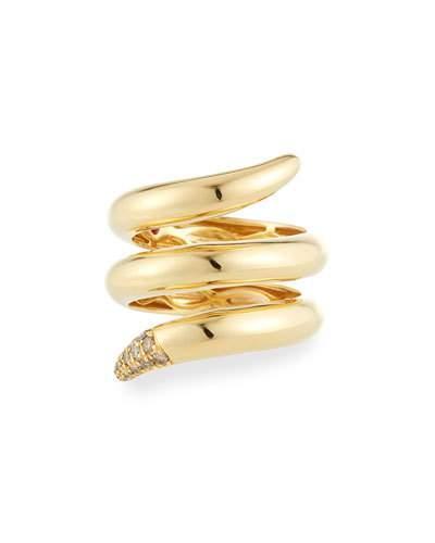 Scalare 18k Diamond Snake Ring,