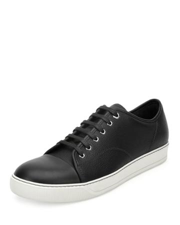 Grainy Leather Low-top