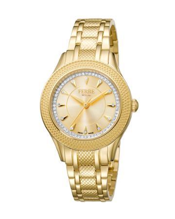 34mm Bracelet Watch W/ Textured Bezel